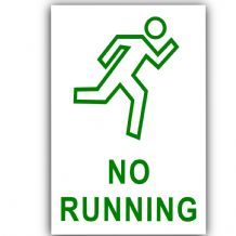 1 x No Running-Self Adhesive Sticker-Health and Safety-Office,School,Premises,Pool,Trip,Hazard